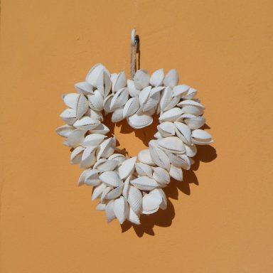 Shell heart wall decoration.