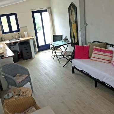 Inside the Annex building, which sleeps 2 additional guests.
