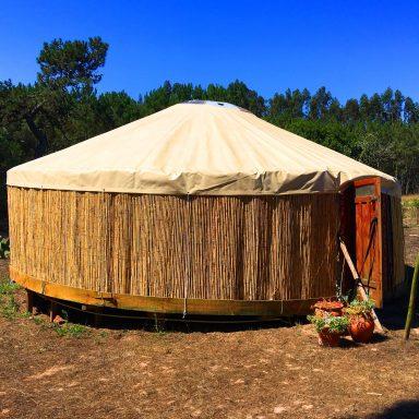 Larger red door yurt.